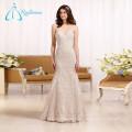 Lace Appliques Sleeveless Cheap Bridal Gown Mermaid Wedding Dresss