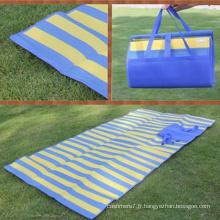 Mat pliable de voyage imperméable de couverture de plage de tapis de pique-nique extérieur d'OEM
