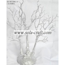 Cheapest Price for Artificial Dry Tree Branch 40CM Plastic Crystal Wedding Tree Centerpiece With Silver Color supply to China Factories