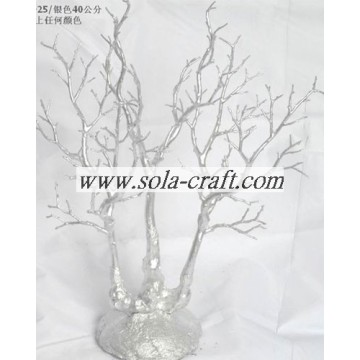 40CM Plastic Crystal Wedding Tree Centerpiece With Silver Color