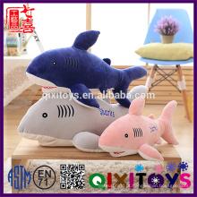 Alta qualidade custom made engraçado confortável recheado macia tubarão marinho de pelúcia bebê brinquedos