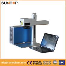 Máquina de marcação a laser de fibra para marcação de metal preto cirúrgico