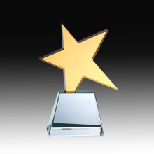 Top Quality Golden Star Crystal Trophy