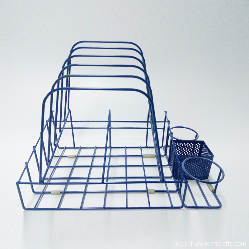 Cubo de pintura de metal Blue Display Rack