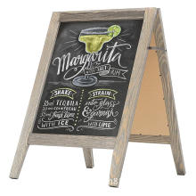 Rustic Stained Vintage Wooden Freestanding A Frame Double Sided Chalkboard Sidewalk Sign