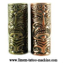 Schädel Relief Tattoo Griffmaterial Legierung Tattoo Rohr 25mm Griffe