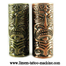 Skull Emboss tattoo grip material Alloy tattoo tube 25mm grips