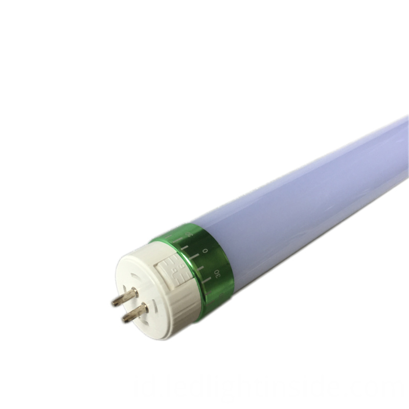 T5 18w 24w Led Tube Light Green Rotating End Cap Milky Cover End View