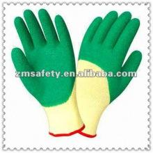 Guantes de seguridad de látex arruga verde 3/4JRE46