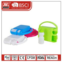 Custom plastic children lunch box with handle