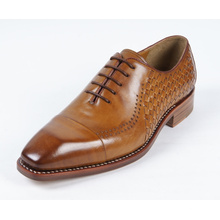 New Design Flat Brown Mens Genuine Leather Business Shoes (NX 420)