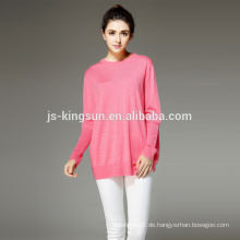 Frauen 100% Merinowolle Gestrickt Lange Pullover Wweater