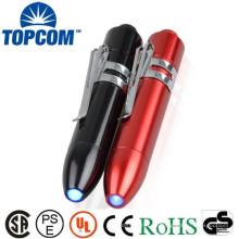 Bolígrafo de aleación de aluminio UV con luz Led