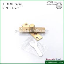 Eixo central ajustável para montagem de ferragens de porta de vidro