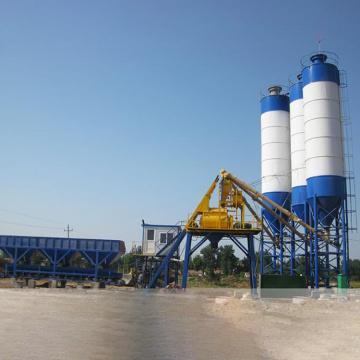 HZS50 Environmental Concrete Mixing Plant