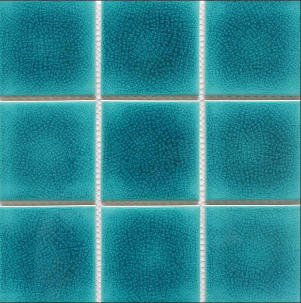 95x95mm Green Glazed Surface Pool Paving Mosaic