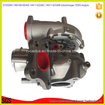 Gt2056V Yd25 Turbocompresor 14411-Eb700 767720-5004s 767720-0002 Turbo para Nissan D40