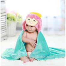 Bamboo baby hooded towel keep baby warm and cozy Baby bath set for kids and girls and boys --Lovely mermaid