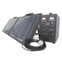 10W  Portable Solar Power System for Household & Outdoor Lighting Use