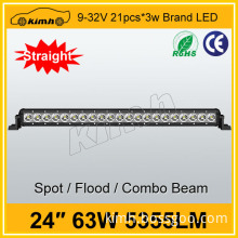 Top quanlity CE certificate 24inch 63W 5630 led module with lens