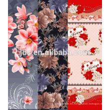 Diseño de flores tela de algodón de impresión