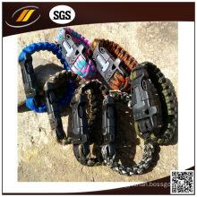 Customized Brand Logo Paracord 550 Survival Bracelet (HJ-7013)