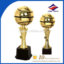 2017 New design basketball gold metal trophy tall trophy