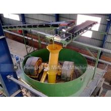 Edge Runner Nassmühle / China Wet Pan Mill für Gold
