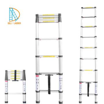 алюминиевая телескопическая лестница 8 ступеней 2,6 м с EN131-6