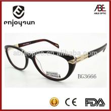 Logotipo personalizado de alta qualidade senhora acetato óculos quadro de óculos