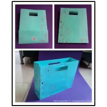 Sac en papier de chocolat / sac de papier de gaufrage / sac de papier de Lunury