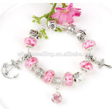 Fashion girls bracelet DIY beads charm silver bracelet