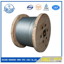 El alambre de acero de alta calidad trenzó 7 / 0.33mm para hacer el cable óptico