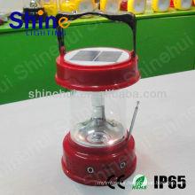 Plastic ABS/Transparent PC CE/ROHS/IP65 led lantern camping red solar lantern