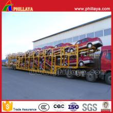Capacité en tant que transporteur de voiture à cadre ouvert de 16 unités Semi-remorque