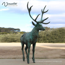 Park Decoration high quality popular design bronze deer sculpture for sale