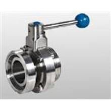 Válvula de mariposa sanitaria de unión de acero inoxidable (IFEC-UB100012)