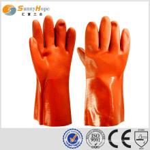 Перчатки для перчаток из ПВХ Перчатки из ПВХ с покрытием Перчатки с химической стойкостью