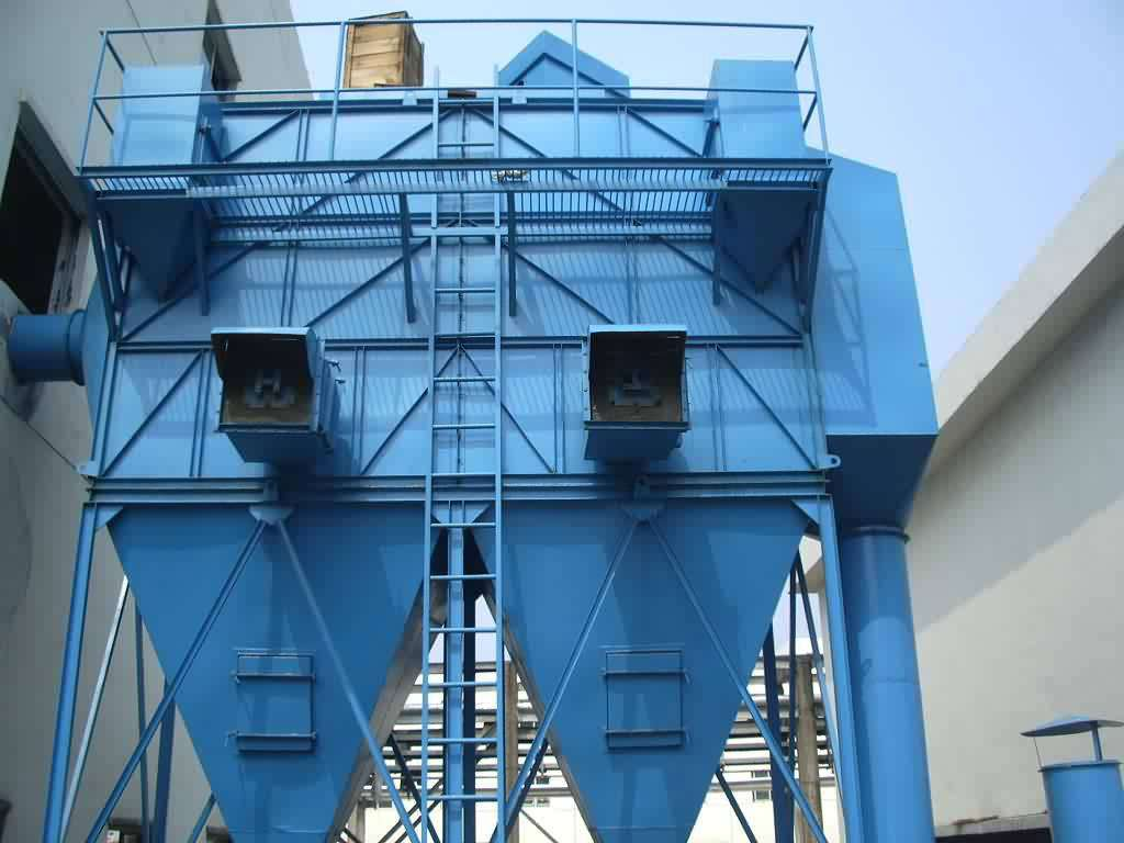 Cement horizontal silo bag type dust collector