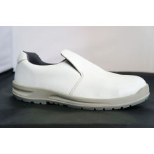 White Color Ankle Leather Safety Toe Work Shoes ,wear-resistant