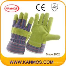 88cbsa Industrial de seguridad de cuero de vaca dividir guantes de trabajo de cuero (11001)