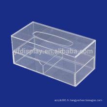 acrylique / pmma / boîte de mouchoirs en plexiglas