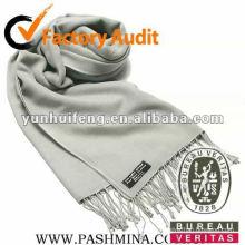 Mode graue Farbe Kaschmir Schal
