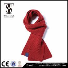 Echarpe en laine et écharpe acrylique à la mode d'hiver écharpe homme et femme Style européen et américain