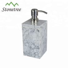 Dispensador de jabón de botellas de champú de piedra de mármol real elegante
