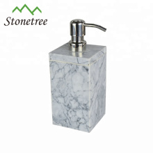 Elegant real marble stone shampoo bottles soap dispenser