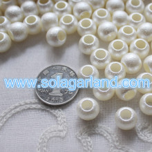 12MM Acrylic Faux Pearl White Rondelle Spacer Beads With Large 6mm Hole