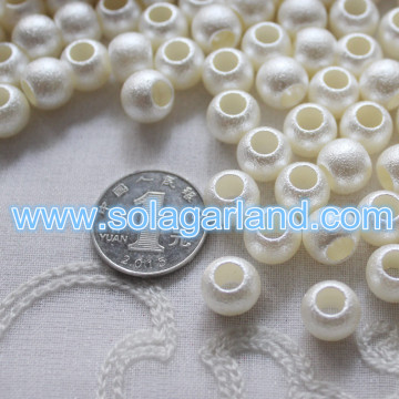 12MM acryl Faux parel wit Rondelle Spacer Beads met groot 6mm gat