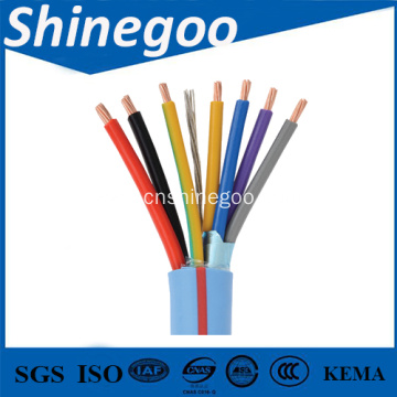 Copper core PVC insulated braiding shielded PVC sheathed flexible control cable
