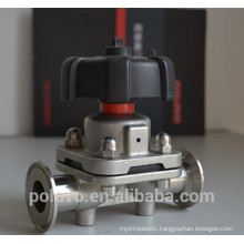 Manual sanitary valve food grade diaphragm valve
